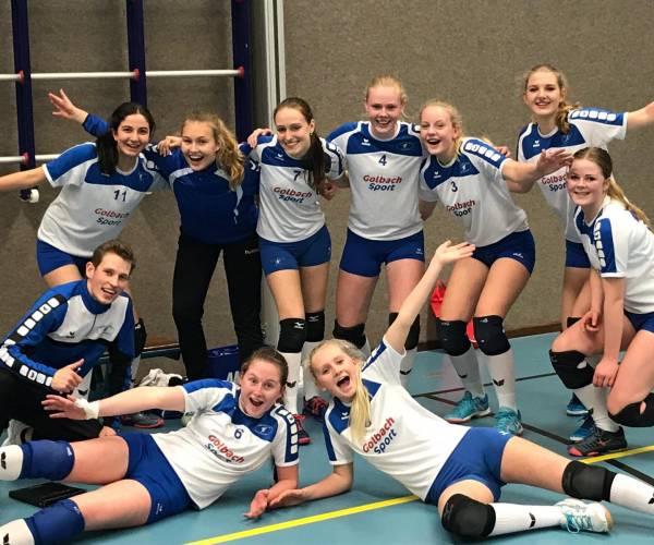 Meiden MB-1 Volley 68 verslaan koploper