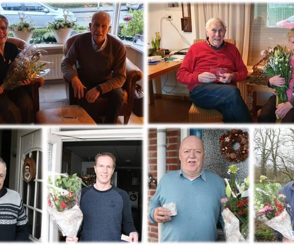 Vooruit Losser huldigt jubilarissen Twee leden zijn reeds 70 jaar lid