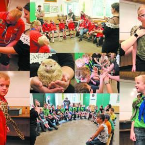 Reptielenworkshop bij Scouting Teylersgroep <br />Tijdens laatste opkomst voor zomervakantie