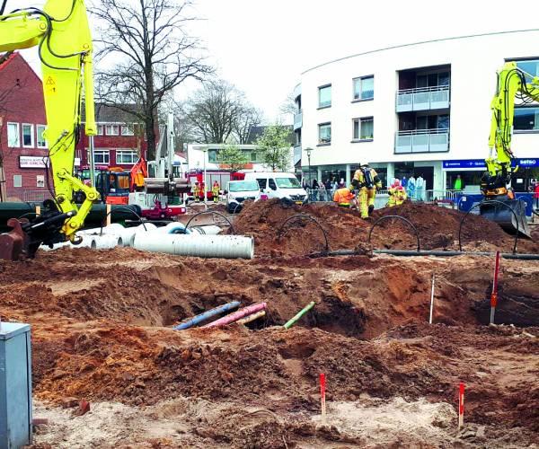 Gasleiding geraakt bij werkzaamheden parkeerplaats Langenkamp