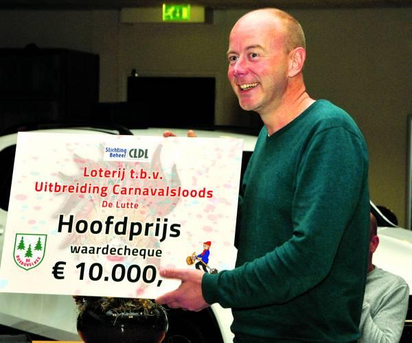 Hoofdprijs van 10.000 euro loterij carnavalsverenigingen blijft in De Lutte