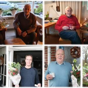 Vooruit Losser huldigt jubilarissen<br />Twee leden zijn reeds 70 jaar lid